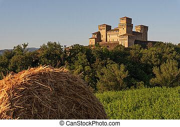 Historic castle on the Italian hills