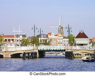 Historic center of city Leiden