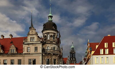 historic center of Dresden - building in the historic center...