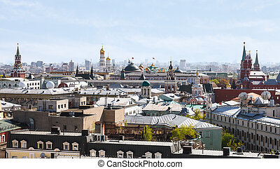 historic center of Moscow city with Kremlin