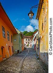 historic centre of Sighisoara city, Transylvania, Romania