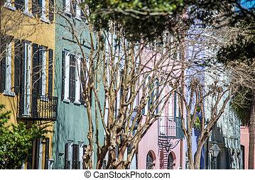 historic charleston south carolina downtown scenery