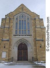 Historic Church Entrance of West Side Saint Paul