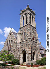 Historic church building in Ann arbor Michigan