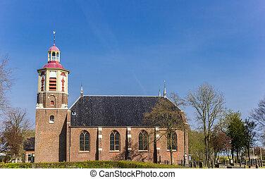 Historic church in small village Midwolda