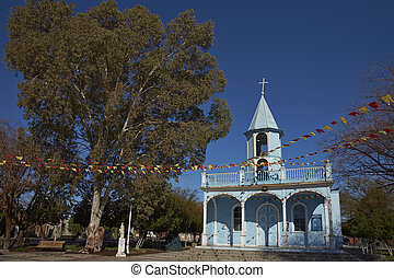 Historic church in the Atacama Desert