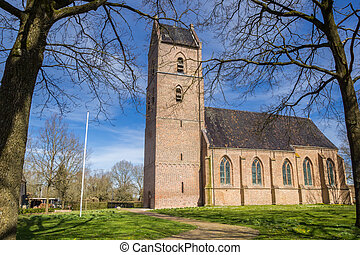 Historic church of small town Vledder