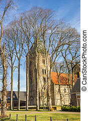 Historic church on the Brink square of Vries