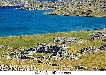 Historic church ruins , Island of Krk