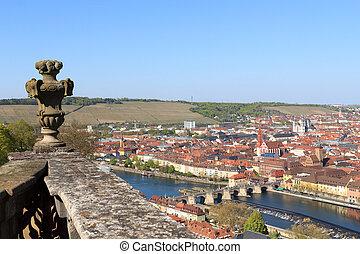 Historic city and bridge, Wurzburg