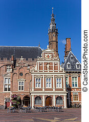 Historic city hall in the center of Haarlem