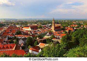 Historic city of Landshut, Bavaria, Germany