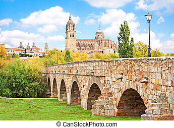 Historic city of Salamanca, Spain - Beautiful view of the...