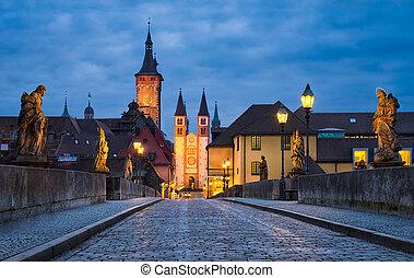 Historic city of Würzburg, Bavaria, Germany
