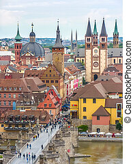 Historic city of Wurzburg, Franconia, Bavaria, Germany
