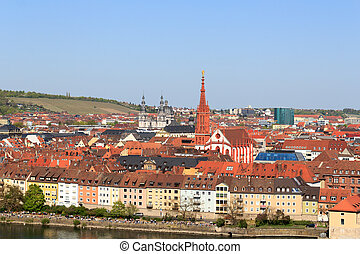 Historic city of Wurzburg, Germany