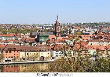 Historic city, university Wurzburg