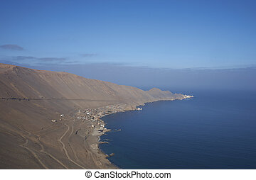 Historic coastal town of Pisagua