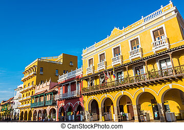 Historic Colonial Architecture - Facades of several historic...