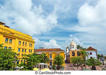 Historic Colonial Plaza - Historic colonial plaza in...