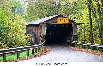 Historic Covered Bridge - Historic covered bridge in ...