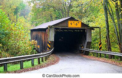 Historic Covered Bridge - Historic covered bridge in...