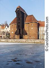 Historic crane in Gdansk