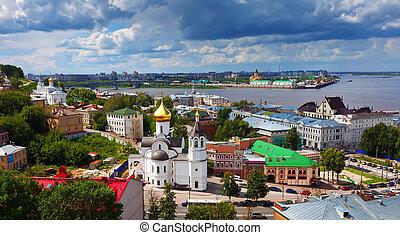 historic district of Nizhny Novgorod in summer