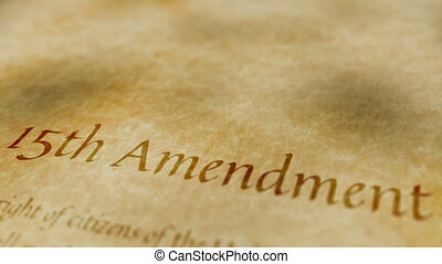 Historic Document 15th Amendment