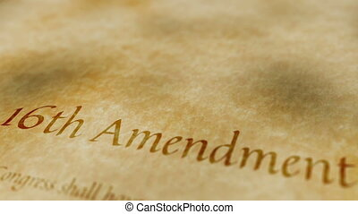 Historic Document 16th Amendment
