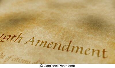 Historic Document 19th Amendment