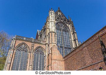 Historic Dom church in the center of Utrecht
