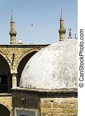 historic dome with mosque minarets lefkosia cyprus