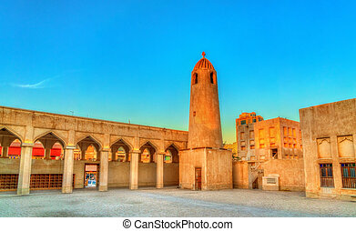 Historic Domes Mosque in Doha, the capital of Qatar