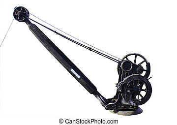 Historic english hand crane cropped