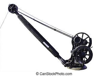 Historic english hand crane cropped