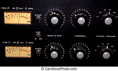 A historic equalizer in a recording studio
