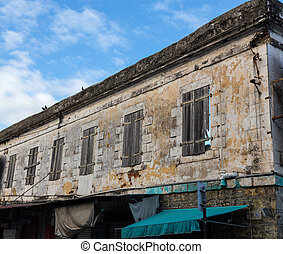 Historic facade in port louis mauritius.