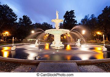 Historic Forsyth Park Fountain Savannah Georgia US