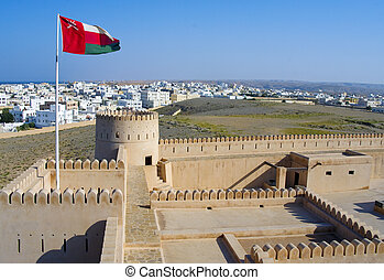 Historic  fortification,  Sunaysilah Castle or Fort in Sur,  Sultanate of Oman, Middle East