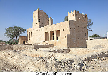 Historic fortress in Doha, Qatar, Middle East