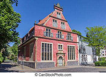 Historic Fruhherrenhaus building in the center of Herford