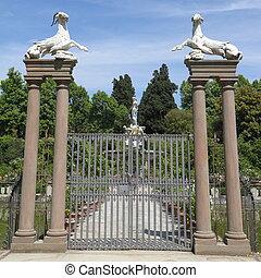 historic gate in garden