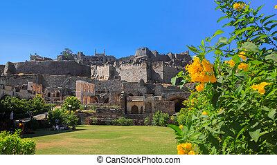 Historic Golconda fort in Hyderabad, India