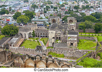 Historic Golconda fort in Hyderabad ,India
