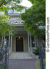 Historic Governor Mansion Entrance in Saint Paul