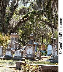 Historic graveyard in Savannah, Georgia