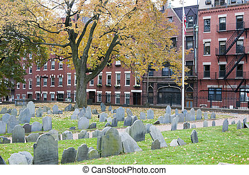 Historic Graveyard in Boston