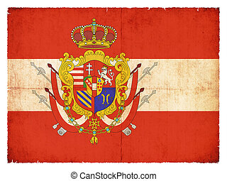 Historic grunge flag of the Grand Duchy of Tuscany