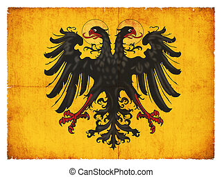 Historic grunge flag of the Holy Roman Empire (of Germany)